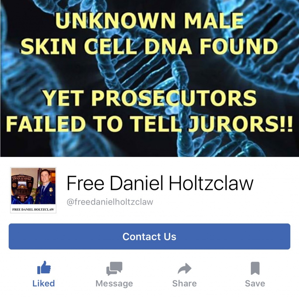 "PLEASE CLICK ""LIKE"" ON FACEBOOK PAGE ""FREE DANIEL HOLTZCLAW"""